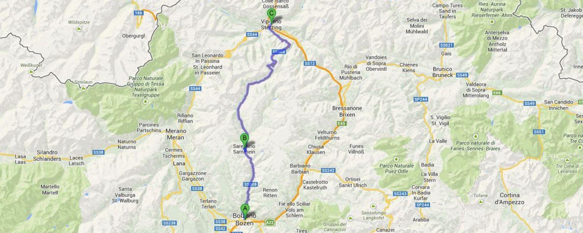 Bolzano - Sarentino - Vipiteno
