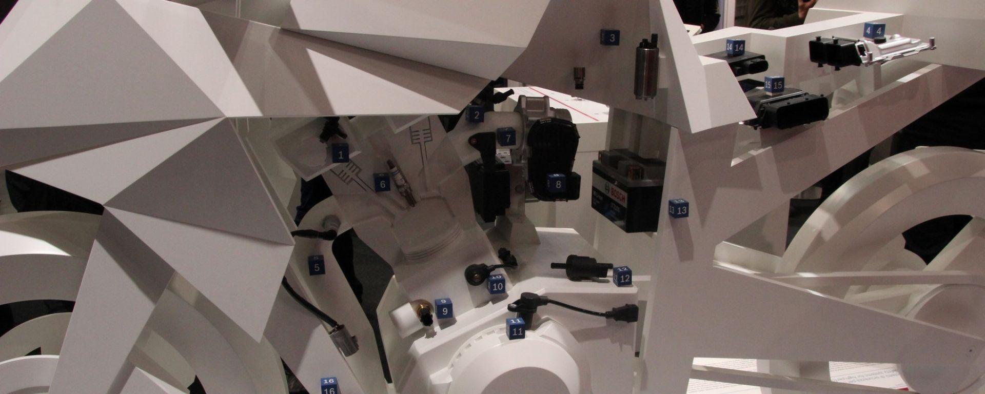 Bosch mostra quanti sensori e centraline elettroniche ci siano su un'auto moderna