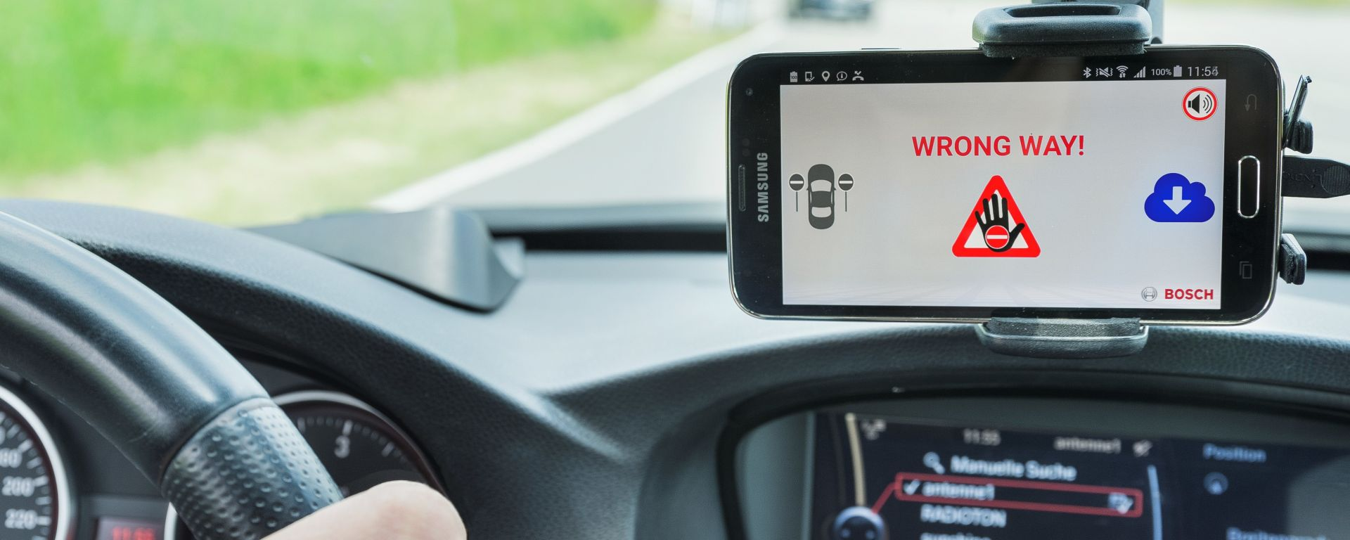 Bosch wrong-way driver applicazione