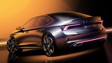 Bozzetto della nuova Skoda Octavia RS iV berlina
