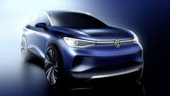 Bozzetto di ID.4, il SUV elettrico compatto di Volkswagen