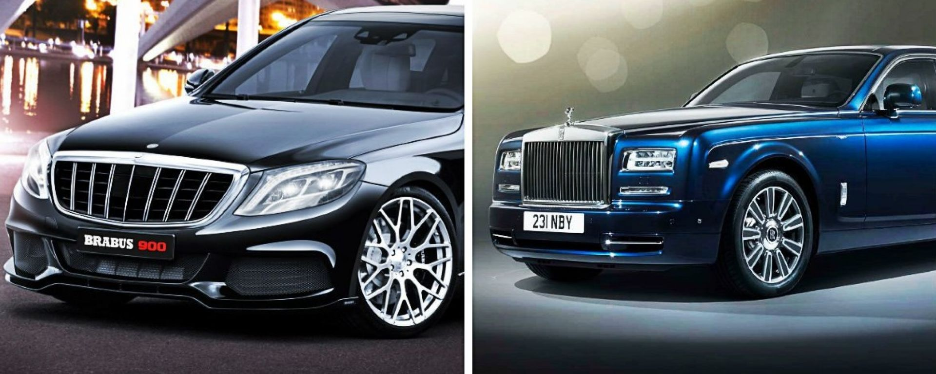 Brabus S900 vs Rolls Royce Phantom
