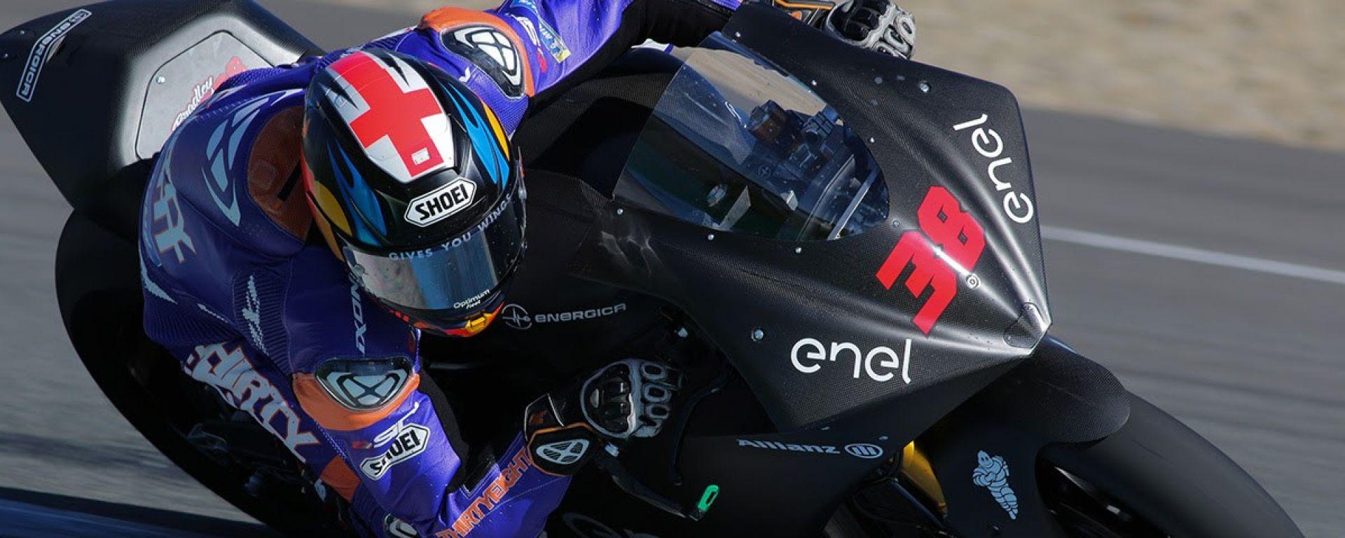 Bradley Smith nei test di Jerez MotoE