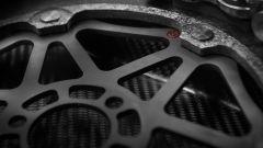 Brembo, dettaglio di un disco freni di MotoGP