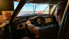 Brent al volante della Mini Cooper S simulatore