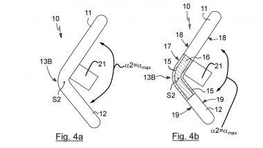 Brevetti BMW: il disegno che mostra come si piega il volante