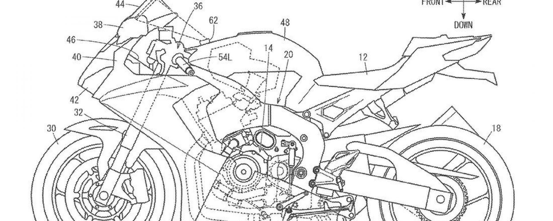 Brevetto head-up display Honda: adatto anche alle sportive