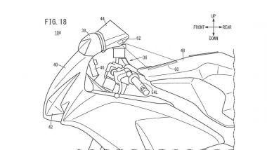 Brevetto head-up display Honda: un dettaglio del posizionamento
