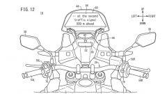 Brevetto head-up display Honda: un esempio di informazione proiettata sul cupolino