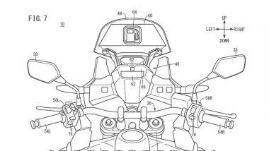 Brevetto head-up display Honda: una delle informazioni disponibili