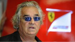Briatore all'interno del box Ferrari - F1