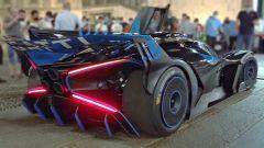Bugatti Bolide ha quattro scarichi privi di silenziatore