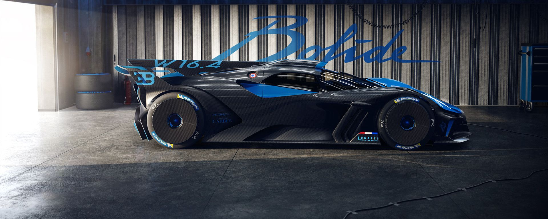 Bugatti Bolide: tra le supercar ha un rapporto peso/potenza da record