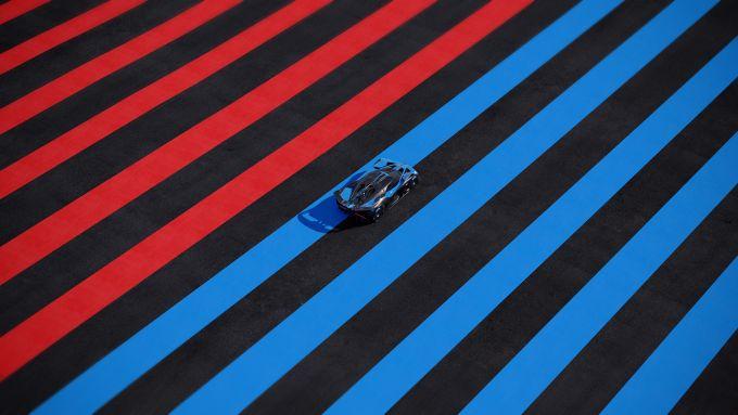 Bugatti Bolide vista dall'alto