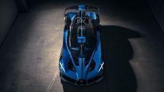 Bugatti Bolide: visuale dall'alto