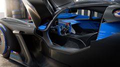 Bugatti Bolide: visuale dell'abitacolo