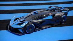 Bugatti Bolide: visuale di 3/4 anteriore
