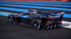 Bugatti Bolide: visuale di 3/4 posteriore