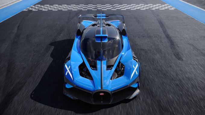 Bugatti Bolide: visuale frontale