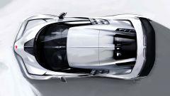 Bugatti Centodieci, il bozzetto di Jascha Straub della vista dall'alto
