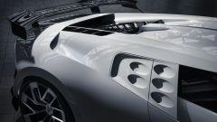 Bugatti Centodieci, le particolari prese d'aria che richiamano la Bugatti EB 110