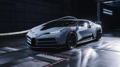 Bugatti Centodieci: l'hypercar francese in galleria del vento.