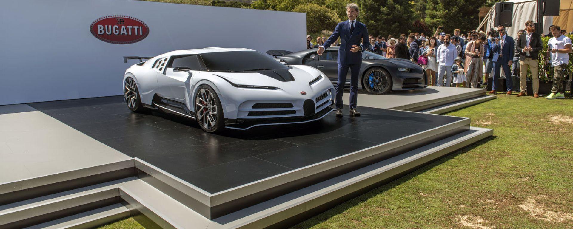 Bugatti Centodieci svelata a Pebble Beach