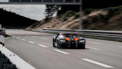 Bugatti Chiron impegnata nel record di velocità in Bassa Sassonia