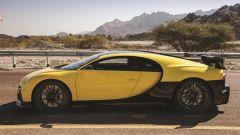 Bugatti Chiron Pur Sport: colorazione speciale in giallo e fibra di carbonio per questo esemplare