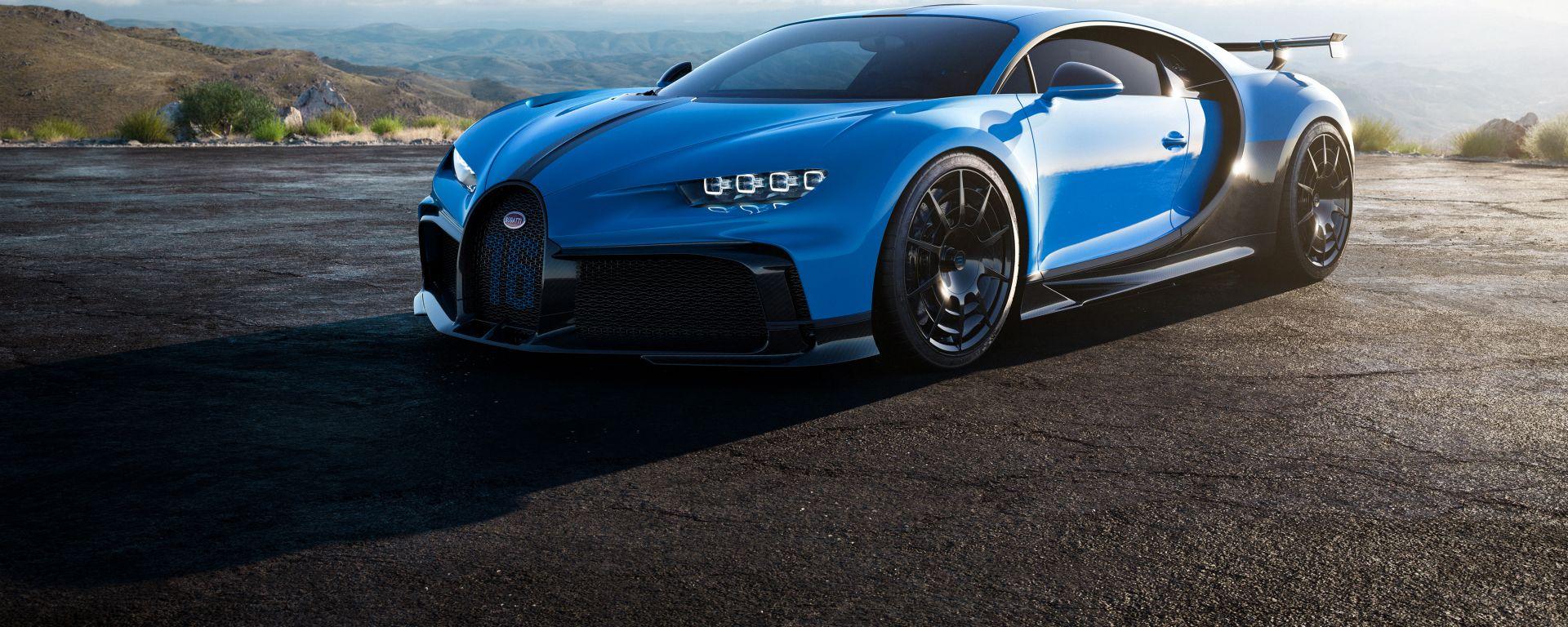 Bugatti Chiron Pur Sport: il 3/4 anteriore