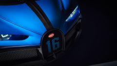 Bugatti Chiron Pur Sport: il logo 16 sulla calandra