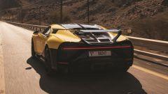 Bugatti Chiron Pur Sport: l'ala posteriore fissa è di serie per questa versione