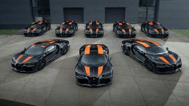 Bugatti Chiron Super Sport 300+, i primi otto esemplari pronti per la consegna