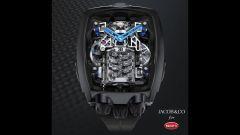 Bugatti Chiron Tourbillon: l'orologio visto dall'alto