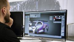 Bugatti Divo Lady Bug: una fase della progettazione al CAD