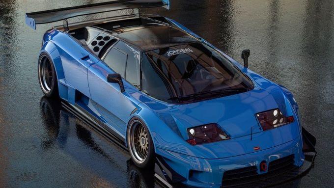 Bugatti EB110: il rendering pronto per Le Mans