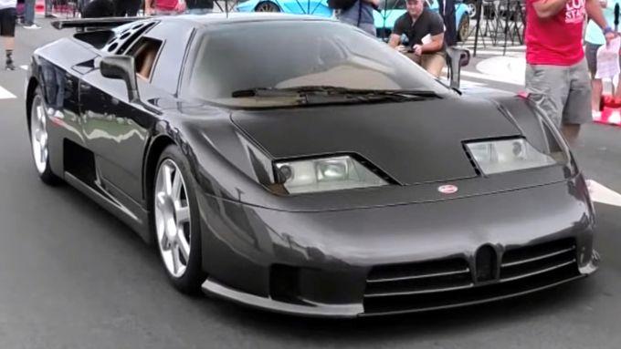 Bugatti EB110 SS con carbonio a vista: forse unica al mondo?