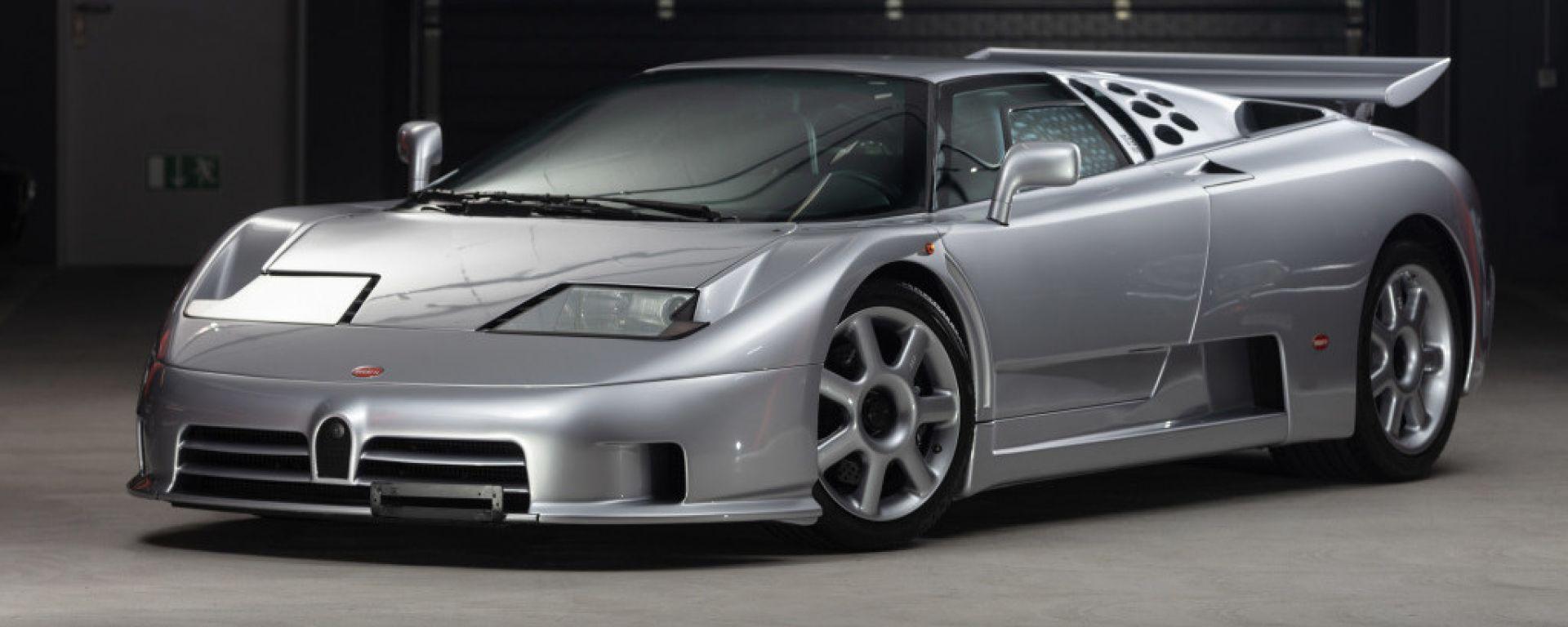Bugatti EB110 Super Sport: in vendita con soli 950 km all'attivo
