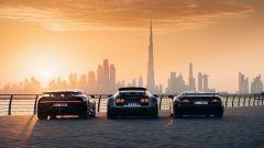 Bugatti: EB110, Veyron e Chiron a Dubai