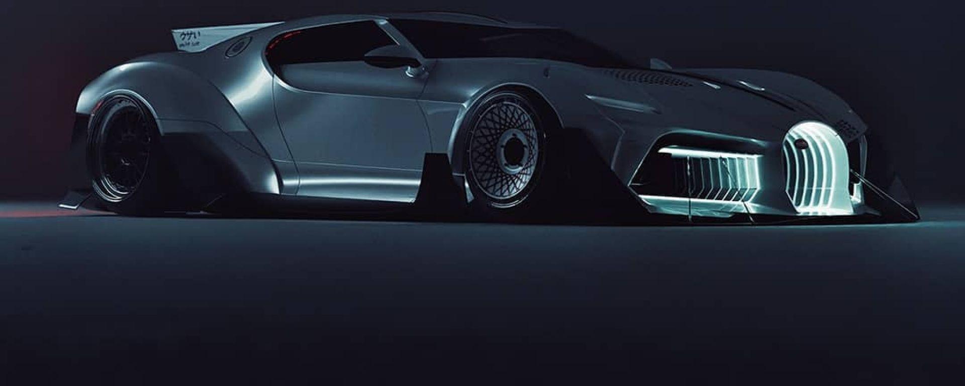 Bugatti La Voiture Blanche: 3/4 anteriore