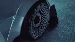 Bugatti La Voiture Blanche: dettaglio dei cerchi