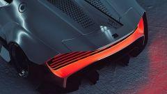 Bugatti La Voiture Blanche: firma luminosa a LED posteriore
