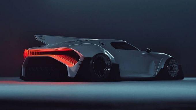 Bugatti La Voiture Blanche: il 3/4 posteriore