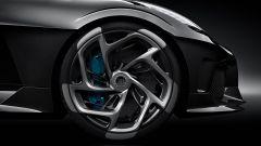 Bugatti La Voiture Noire: un dettaglio dei cerchi in lega leggera