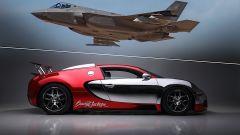 Bugatti Veyron MY 2008 sfida un F-35