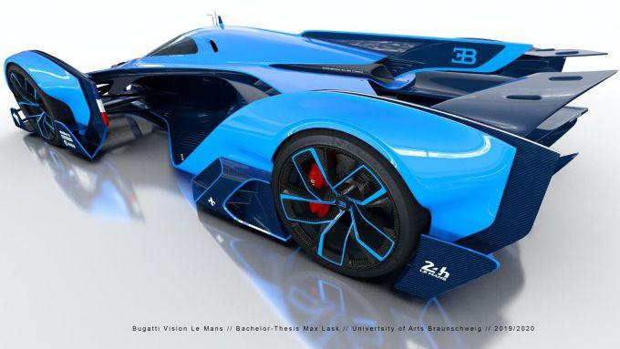 Bugatti Vision Le Mans: l'aerodinamica posteriore