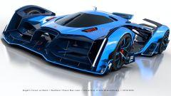 Bugatti Vision Le Mans: visuale di 3/4 anteriore