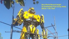 Bumblebee by Scrap Metal Art Thailand