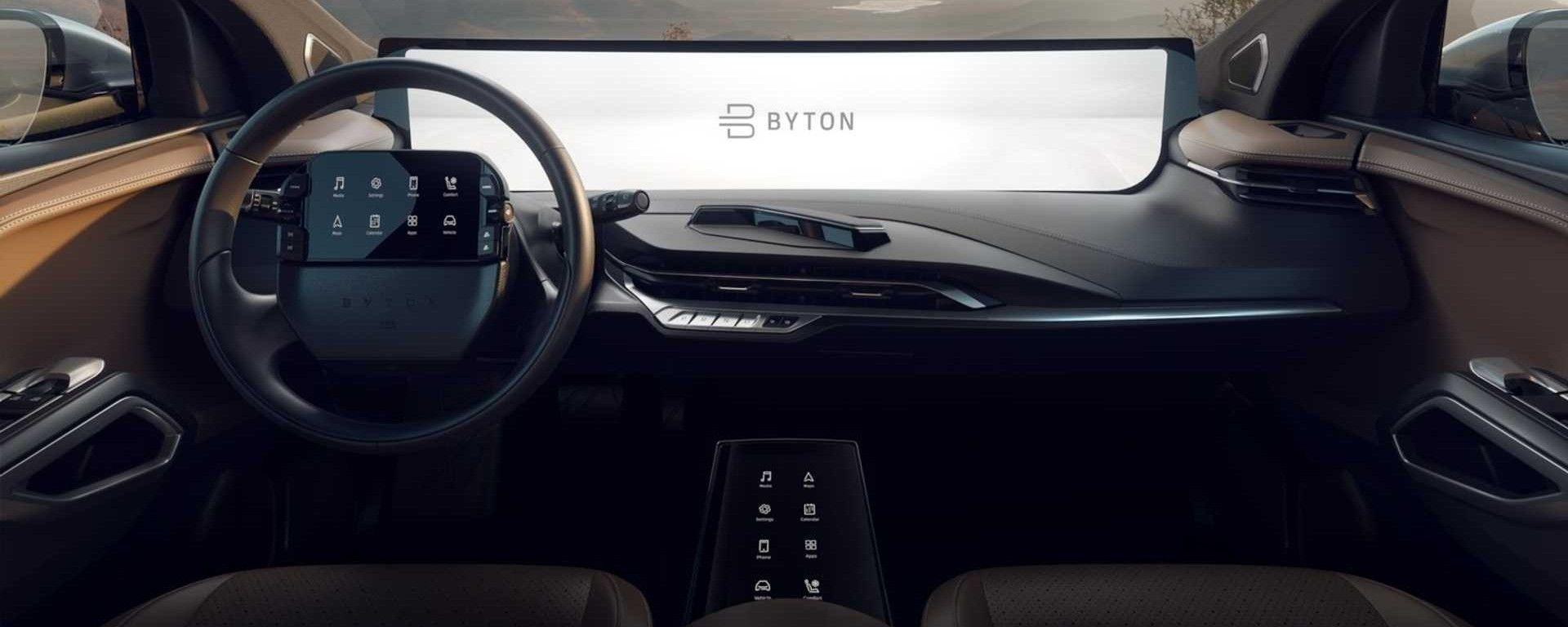 Byton M-Byte: schermo da 48 pollici per il SUV elettrico