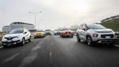 C3 Aircross, Kona, Stonic, Captur, Arona e Vitara sulla pista Aci Sara di Lainate